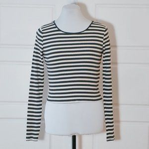 💰3/20$💰GARAGE Stripes long sleeve crop top
